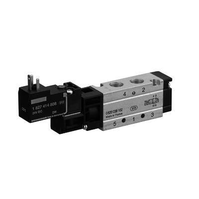 Útszelep elekt. 5/2  G1/8 24VDC unist. reteszelhető