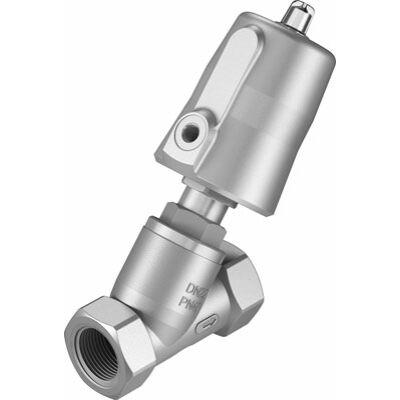 Ferde ülékes szelep VZXF-L-M22C-M-B-G1-240-M1-V4V4T-50-10 , G1, 40 bar, saválló, PTFE, 200 °C