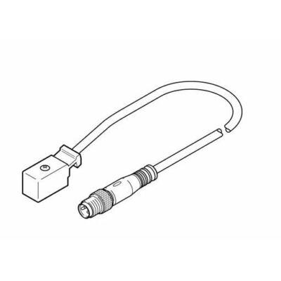 Csatlakozó kábel KMYZ-2-24-M8-2.5-LED