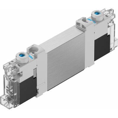 Útszelep el. VUVG-BK10-T32C-AT-F-1H2L-S, 2x3/2, zárt, monostabil