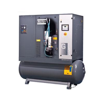 Csavarkompresszor G7 (7,5 kW, 1080 liter/perc) 270l tartályon, hűtveszárítóval