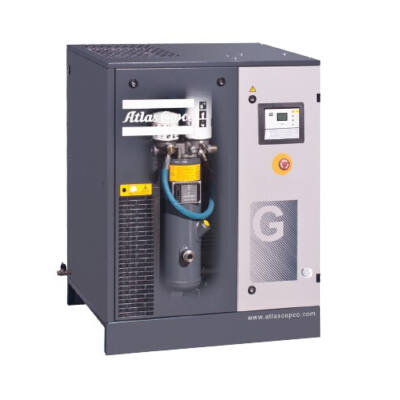 Csavarkompresszor G15 (15 kW, 1746 liter/perc) alapkereten, hűtveszárítóval