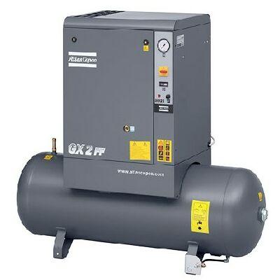 Csavarkompresszor GX3 (3 kW, 318 liter/perc) 200l tartályon, hűtveszárítóval