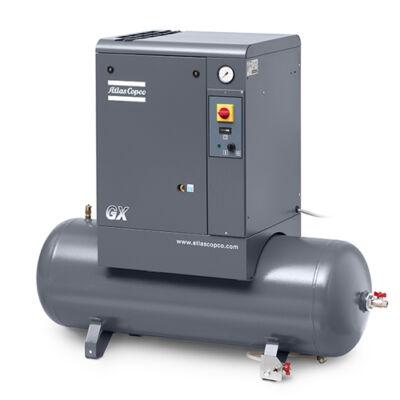 Csavarkompresszor GX4 (4 kW, 468 liter/perc) 200l tartályon